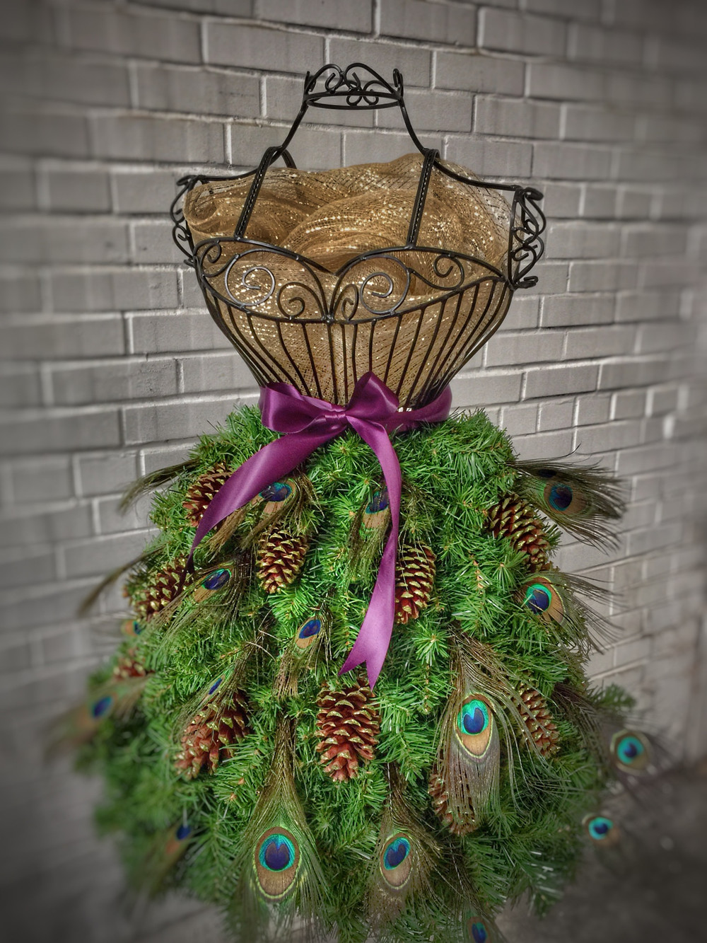 Wire Dress Form Christmas Tree