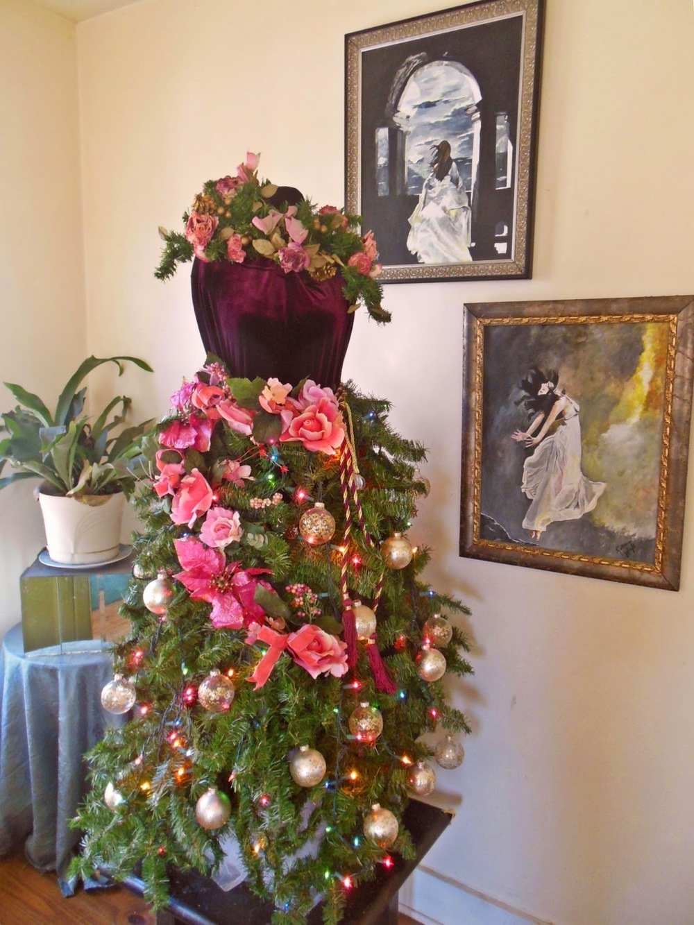 Non-Traditional Christmas trees using Dress Forms