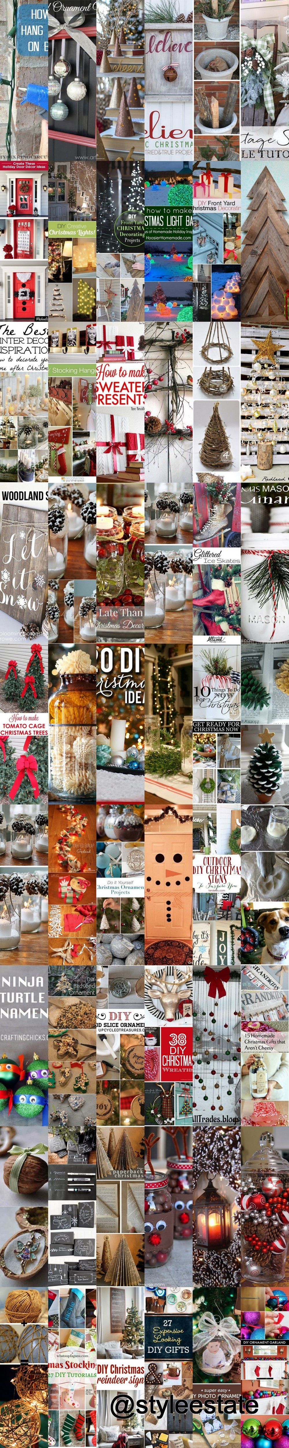 A Roundup of 54 Amazing DIY Christmas Tutorials and Other Great Holiday Ideas - Style Estate -
