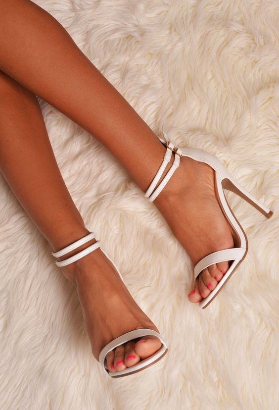 """PB """"Barely There Heels with Double Ankle Strap"""""""