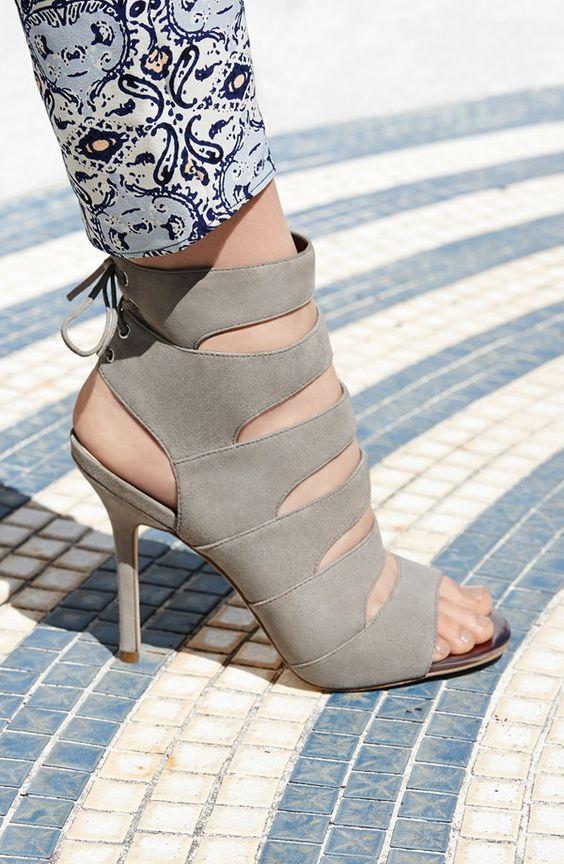 'Anastasia' Strappy Suede Sandal