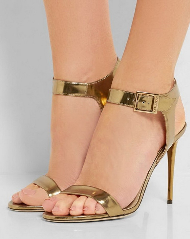 Jimmy Choo #sandals #metallic