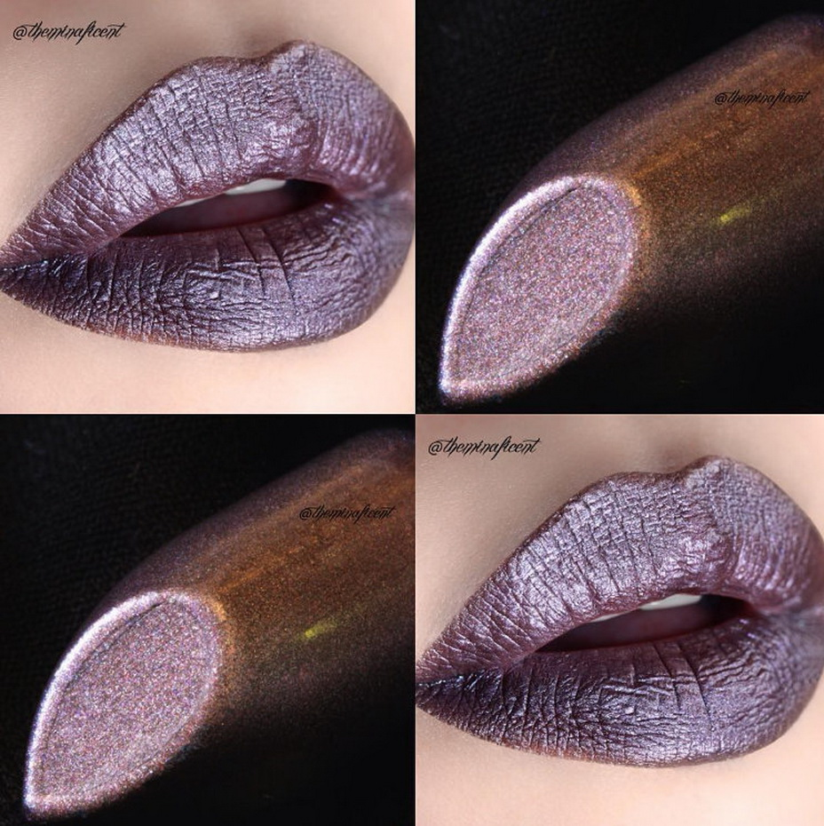 One of my fave Perlees lipstick by @limecrimemakeup in Asphalt :)