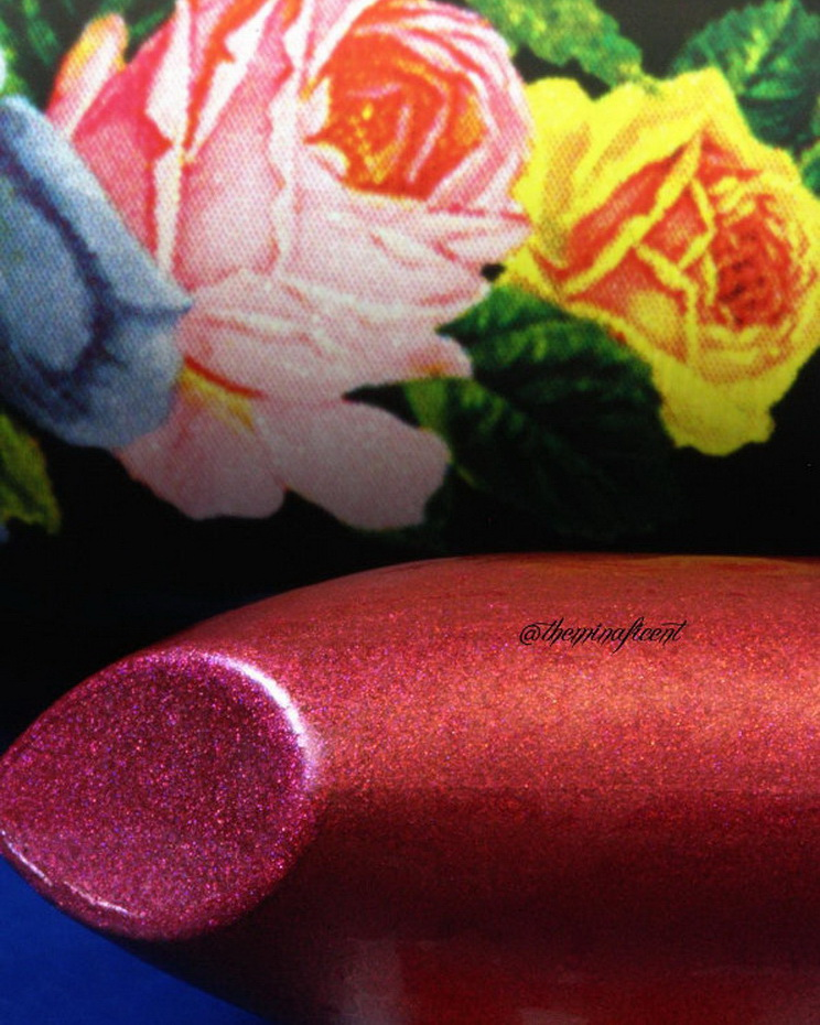 "Up close of @limecrimemakeup Perlees Lipstick in ""Third Eye"""