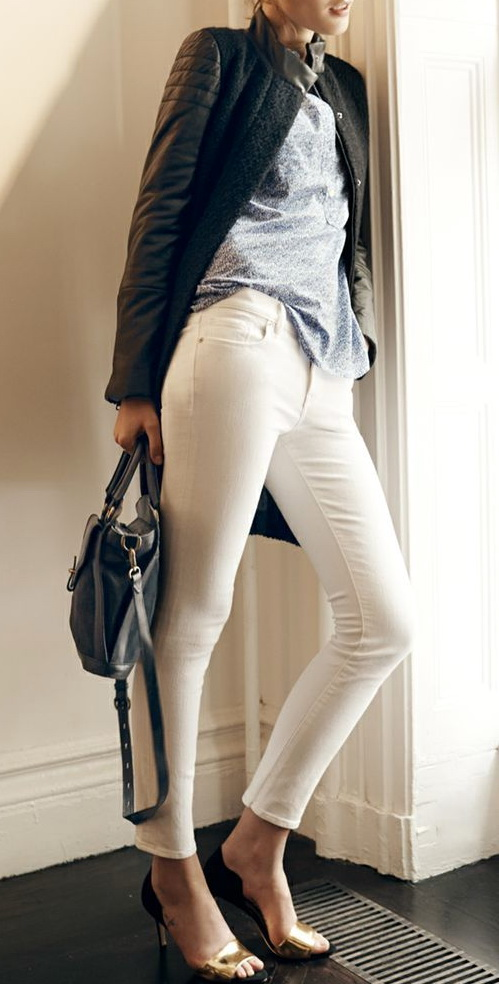 Pure White Jeans / Shoes