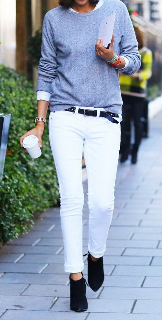 white jeans outfit