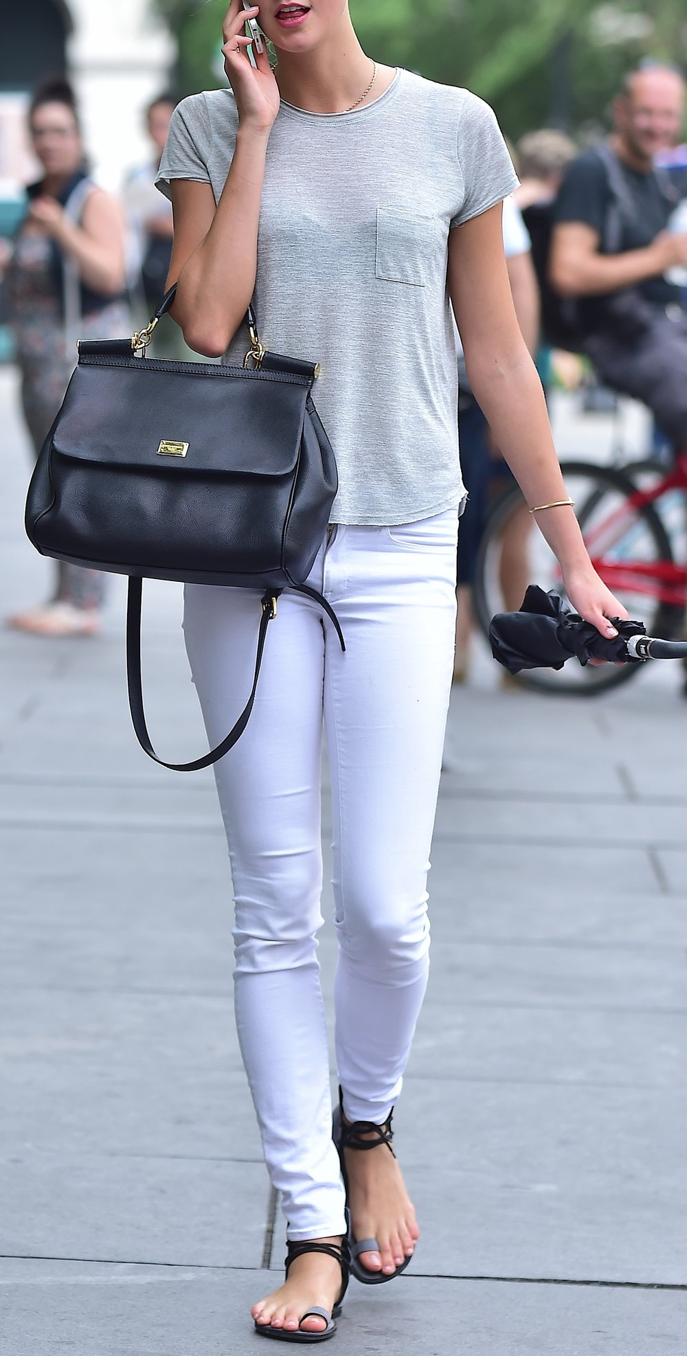 NEW YORK, NY - JULY 14:  Karlie Kloss is seen in Tribeca