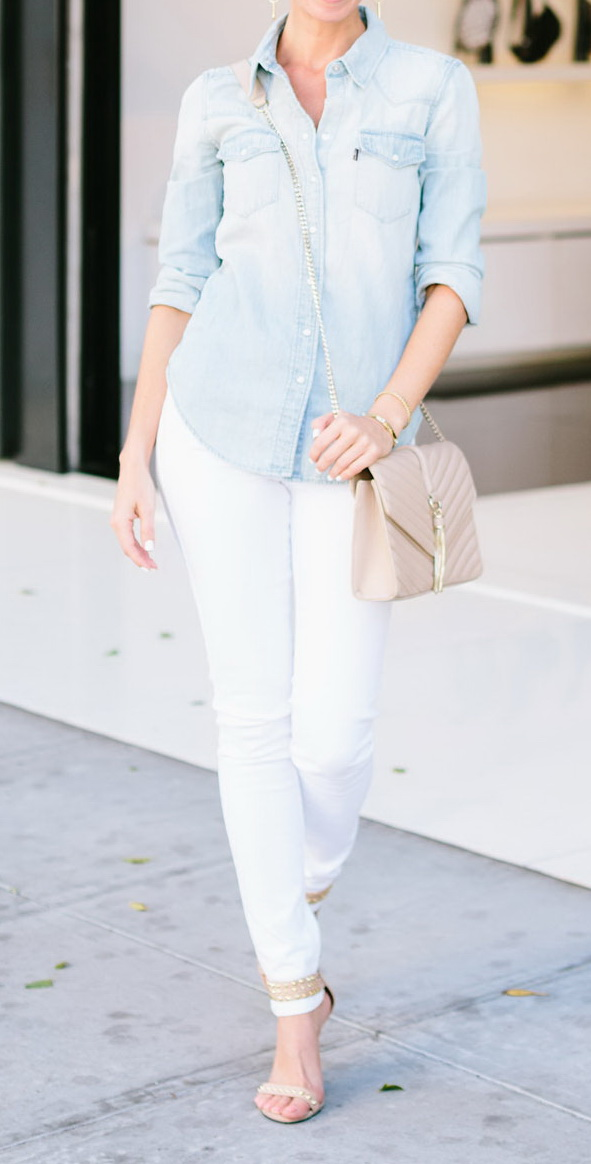 white jeans outfit by Sydne Style http://www.sydnestyle.com