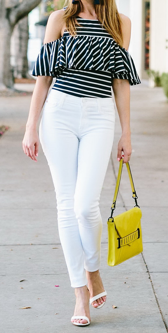 White Skinny Jeans Outfits