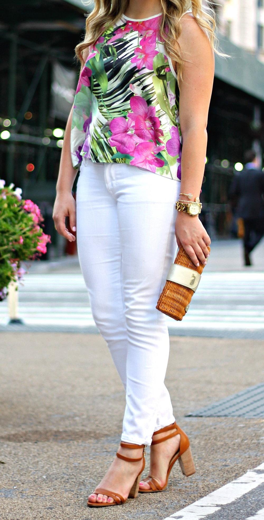 White Jeans White Top