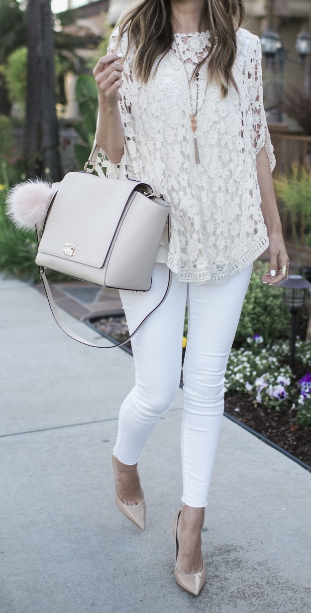 Try layering all white fabrics over white jeans like Merrick White by Just The Design https://www.justthedesign.com/