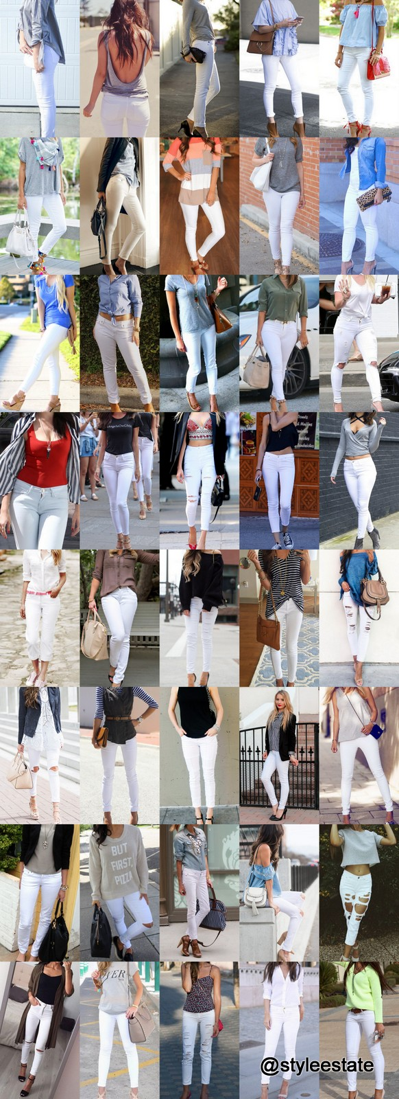 🔝 101 🔥 Ways To Style White Jeans This Summer ☀️