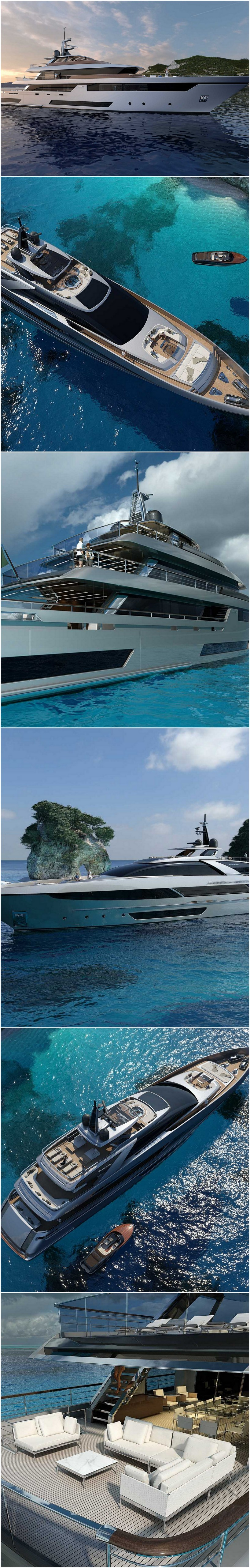 Riva's Two 164' Superyacht Designs Offer Contemporary & Traditional Styles