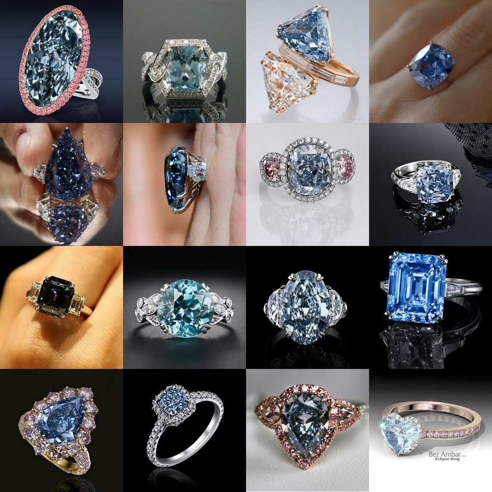 Gorgeous Blue Diamonds