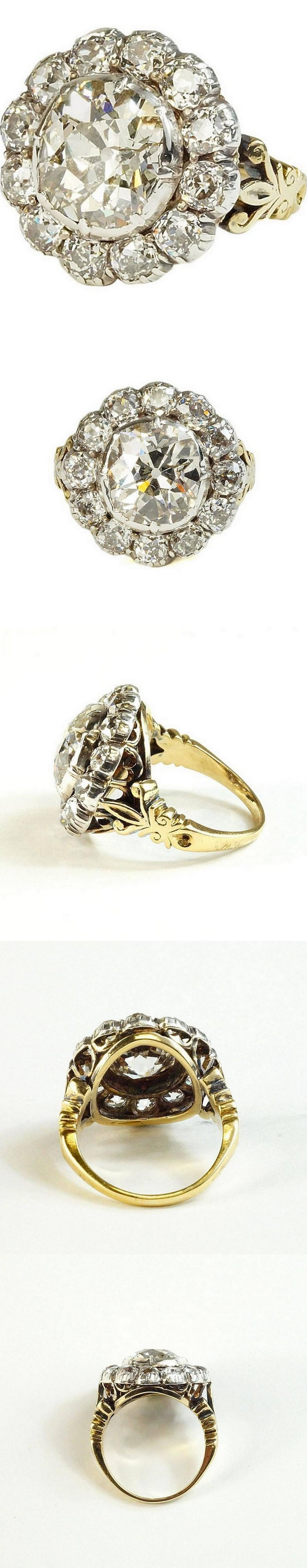 Victorian 19th Century Diamond Ring 8 Carat