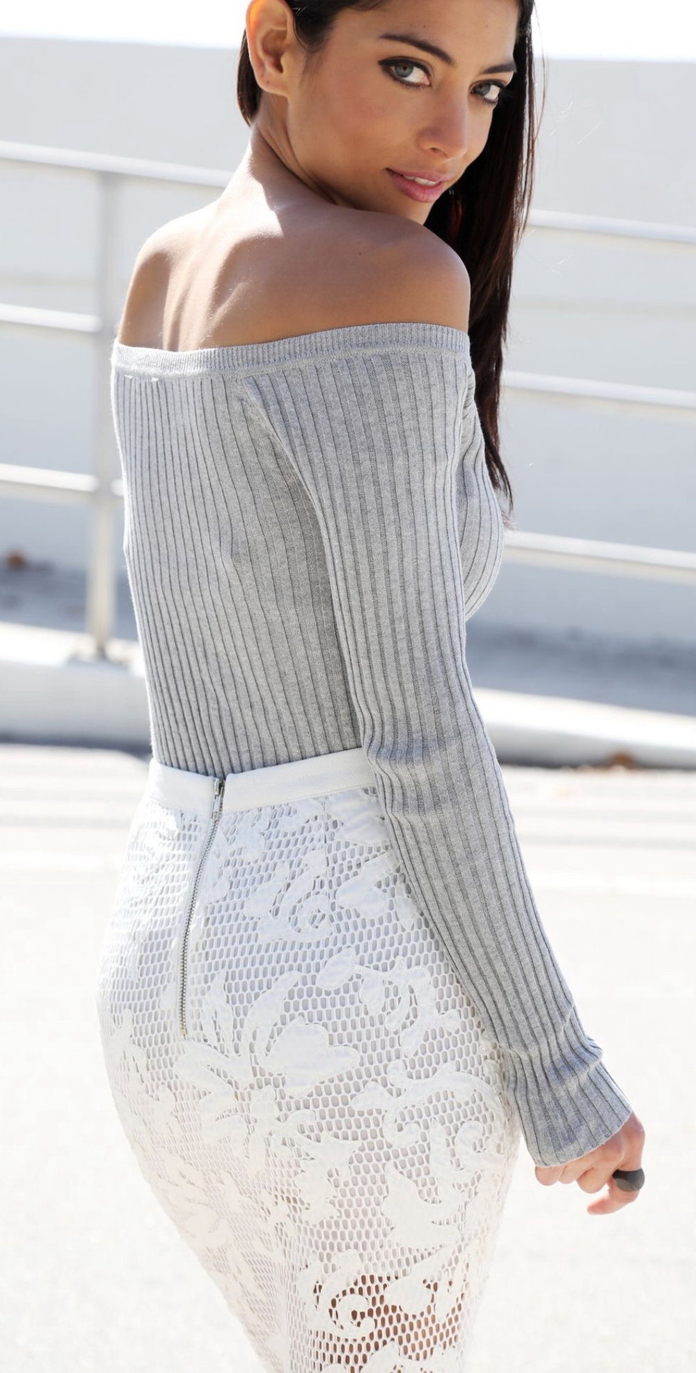http://theconcreterunway.com/product/off-the-shoulder-grey-knit-top/