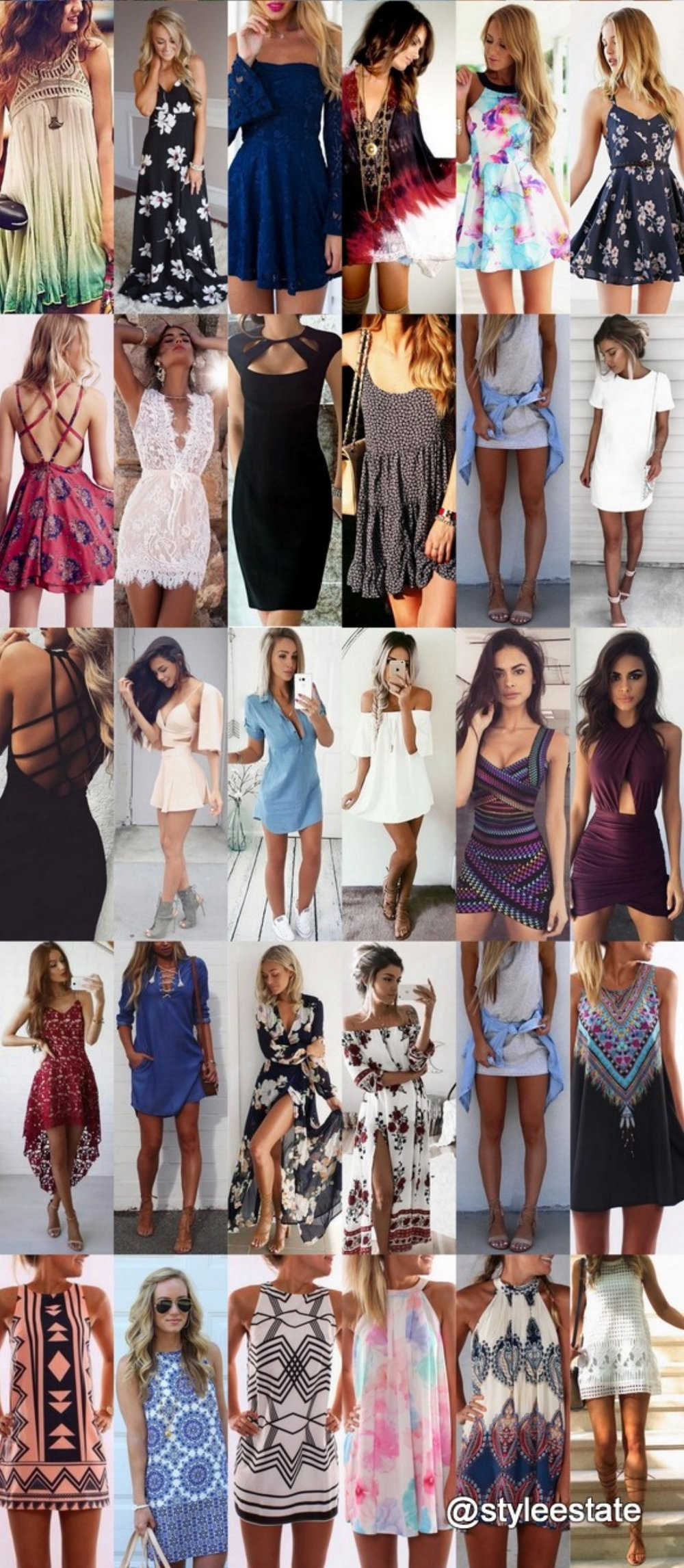 75+ Flirty Summer Dresses To Copy Now 2017