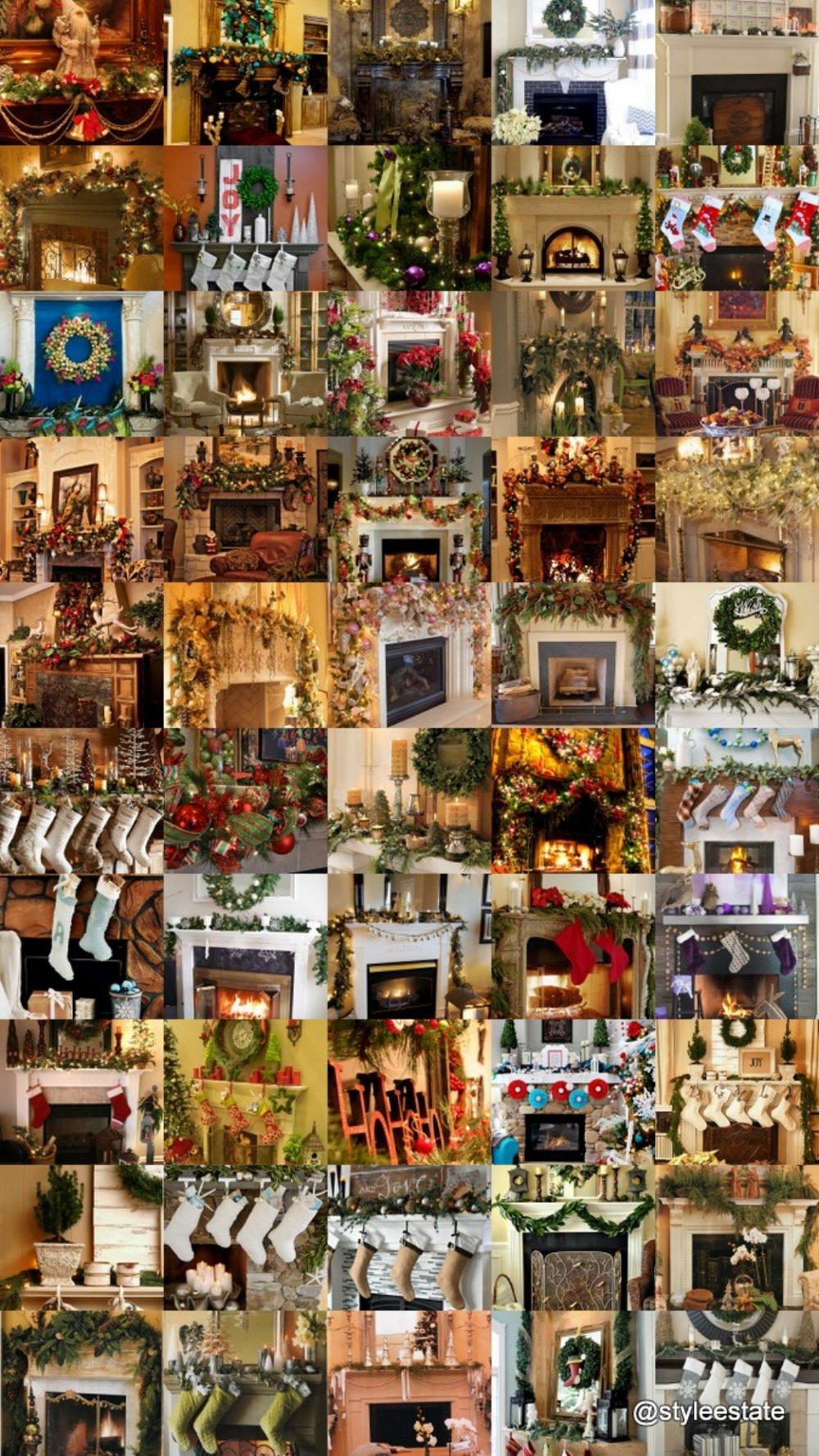 52 Stunning Christmas Mantels