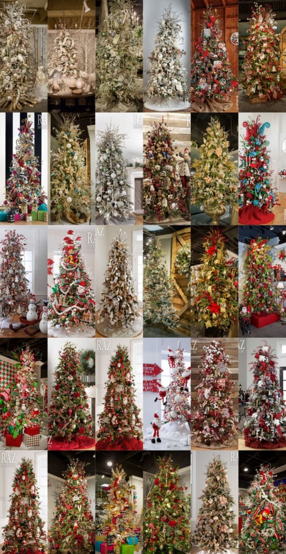 42 Amazing-Designer Christmas Trees @RazImports 2016
