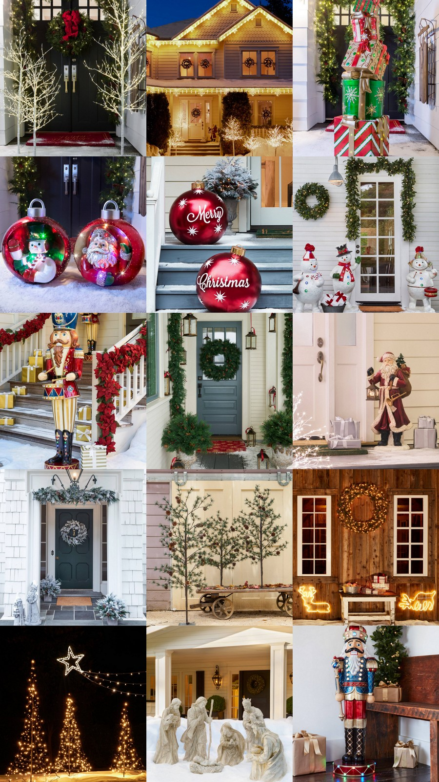15 Magical Outdoor Christmas Decorations @BalsamHill