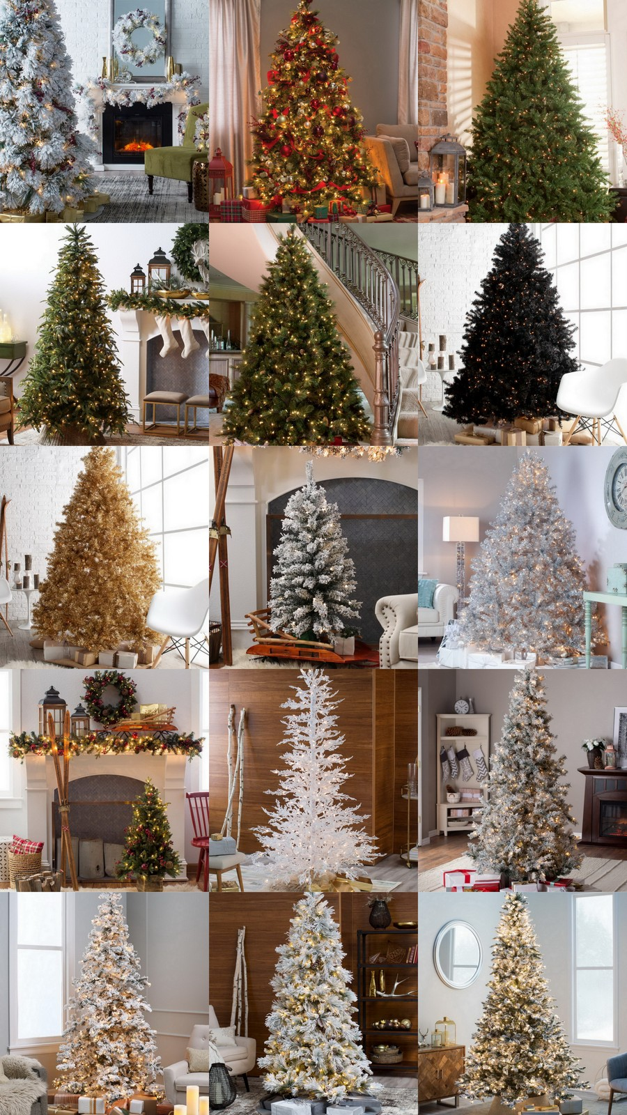 15 Gorgeous Pre-Lit Christmas Trees @hayneedle