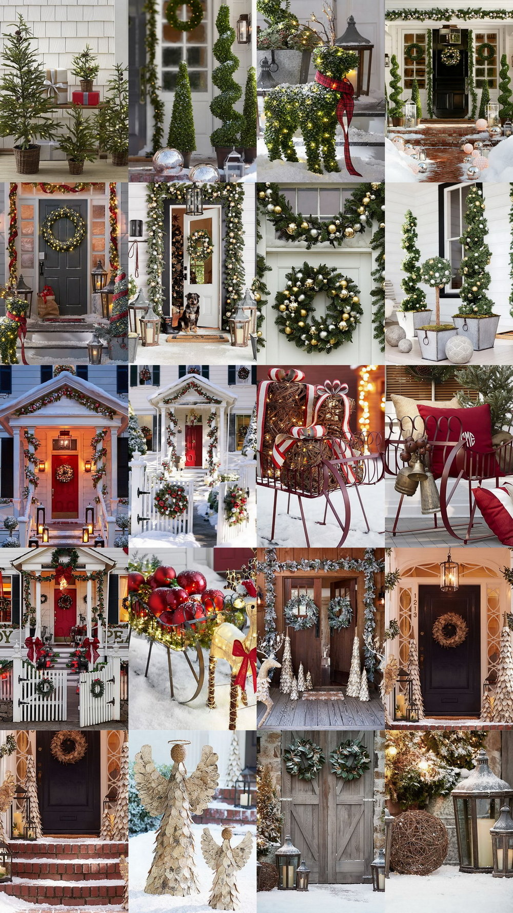 20 Exceptional Outdoor Christmas Decorations @PotteryBarn