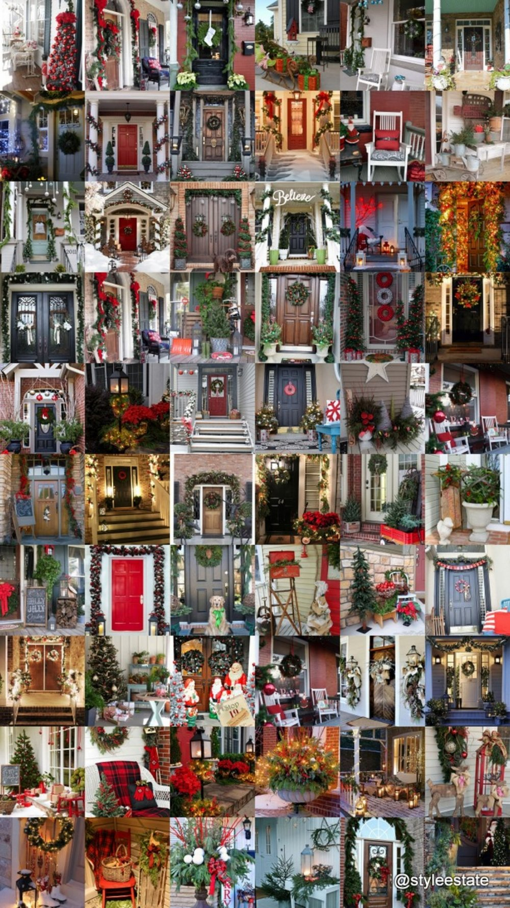 50 Stunning Christmas Porch Ideas - Style Estate -