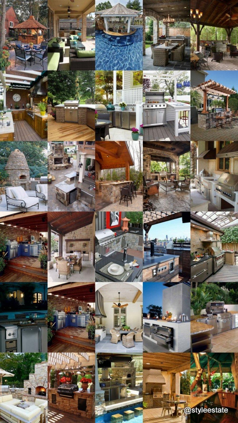 30 Gorgeous Outdoor Kitchens @styleestate