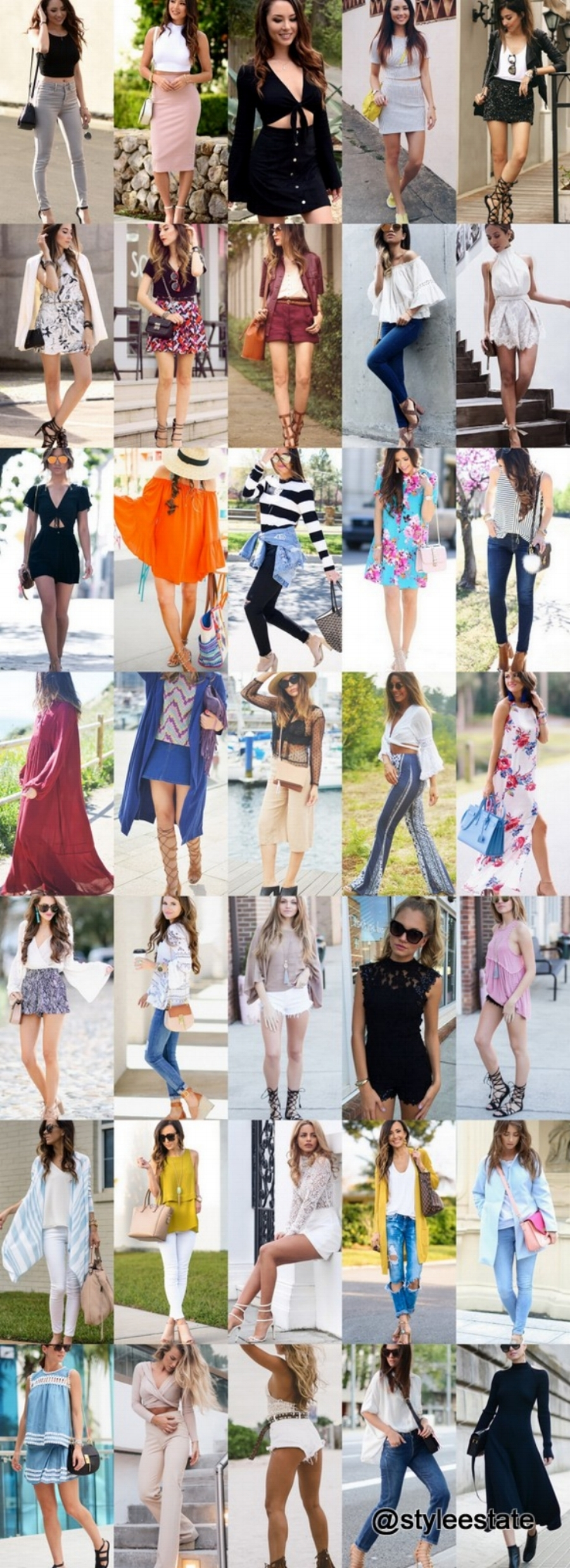 Fashion Trends Daily - 36 Trendy Spring/Summer Outfits 2016
