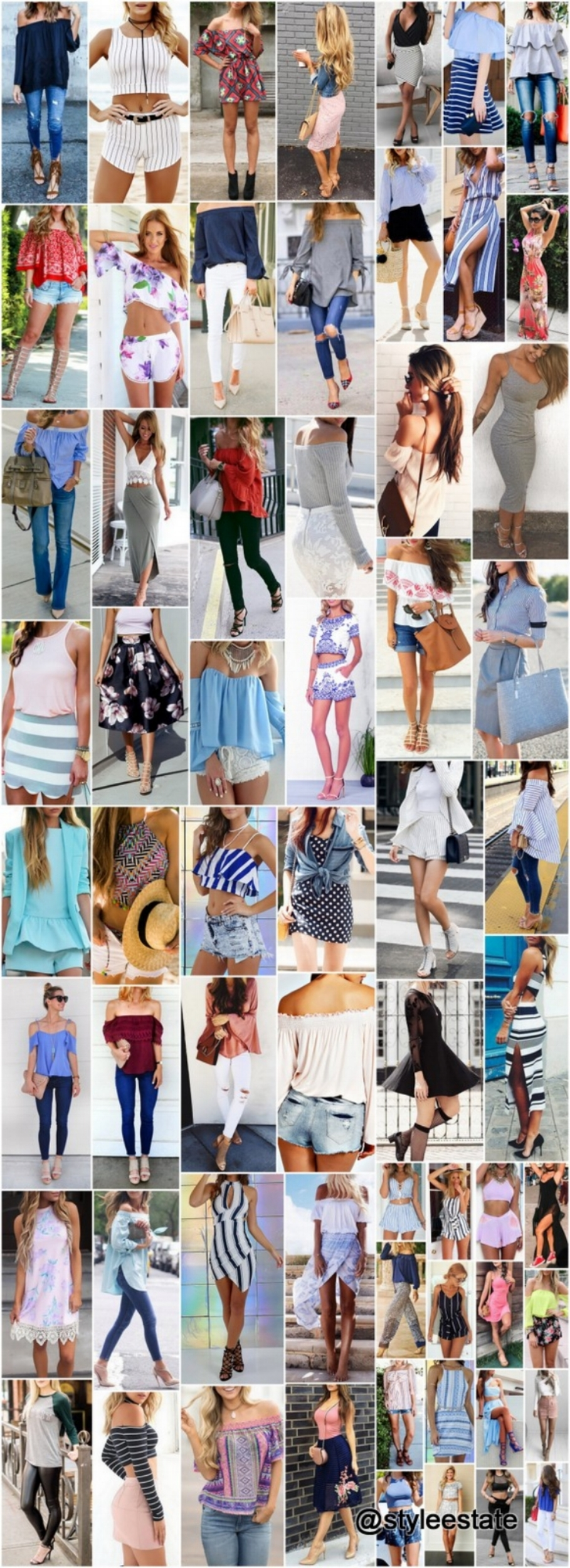 50 Popular Outfits To Copy For Summer ☀️
