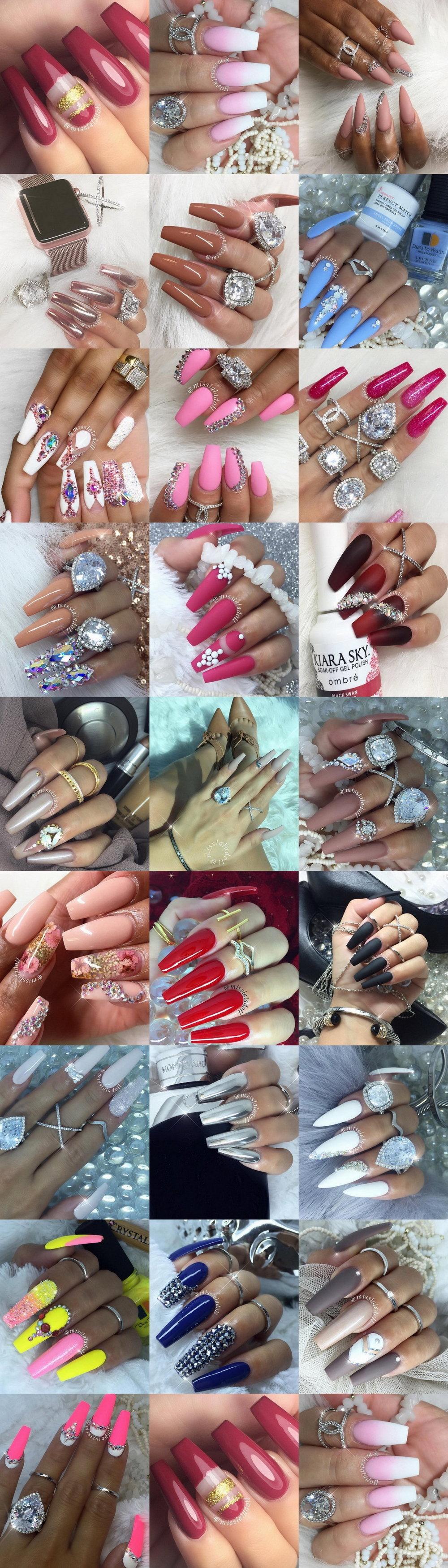 💅🏻 25 Trend-Setting Nail Art Designs @misslaladoll