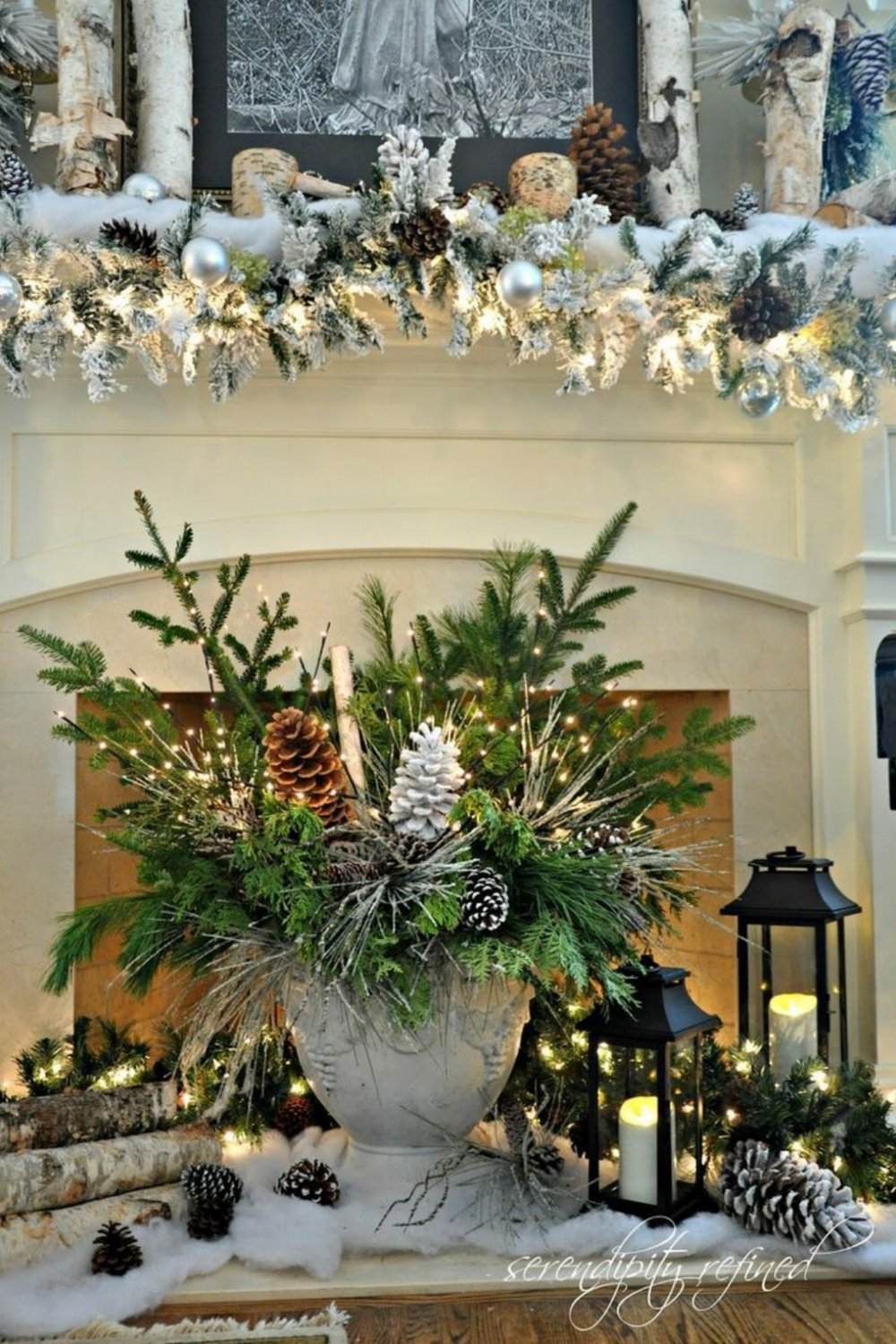 35 beautiful christmas mantels style estate for Beautiful christmas decorating ideas