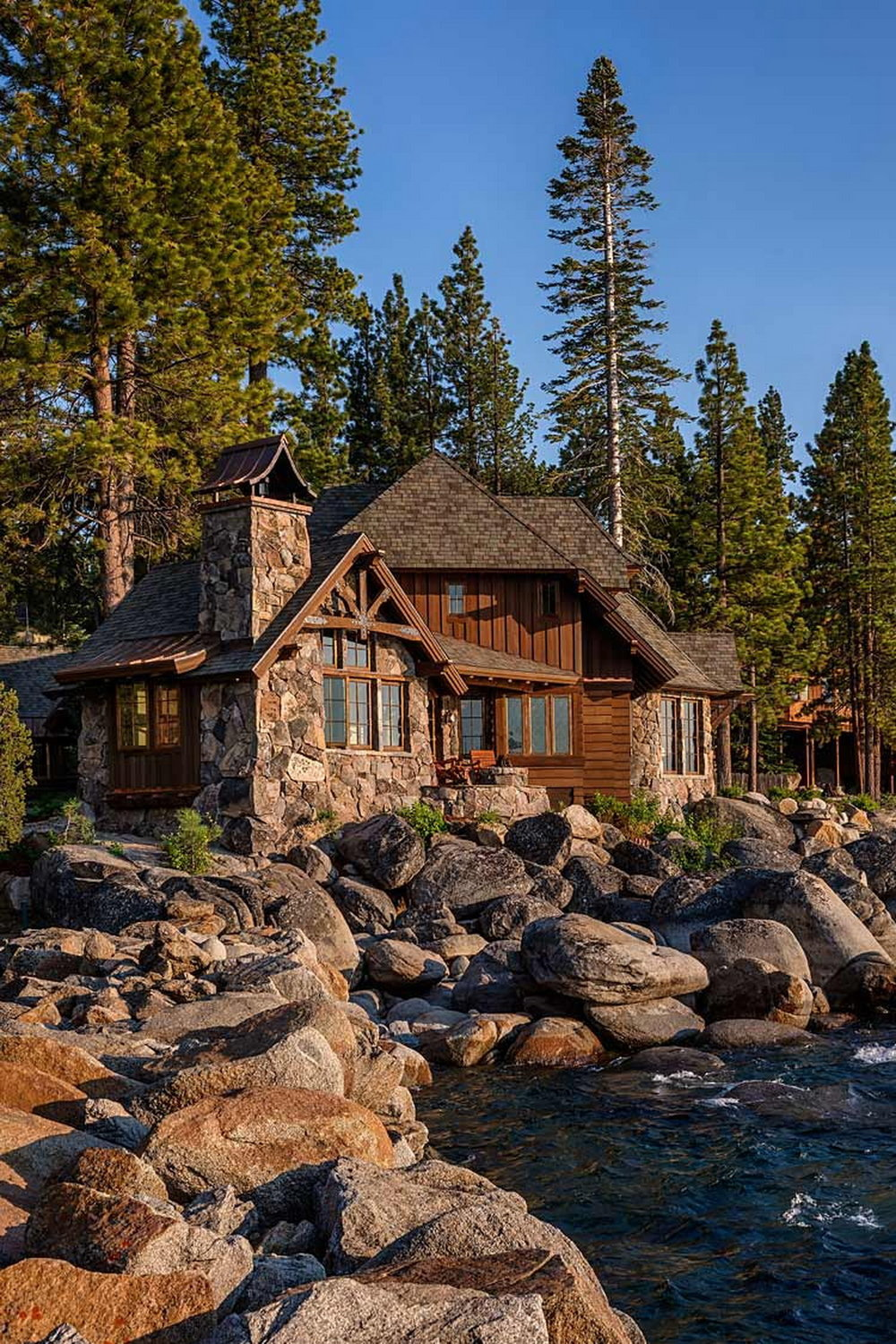 East Shore Residence, Lake Tahoe, NV by Architect, Dennis E. Zirbell