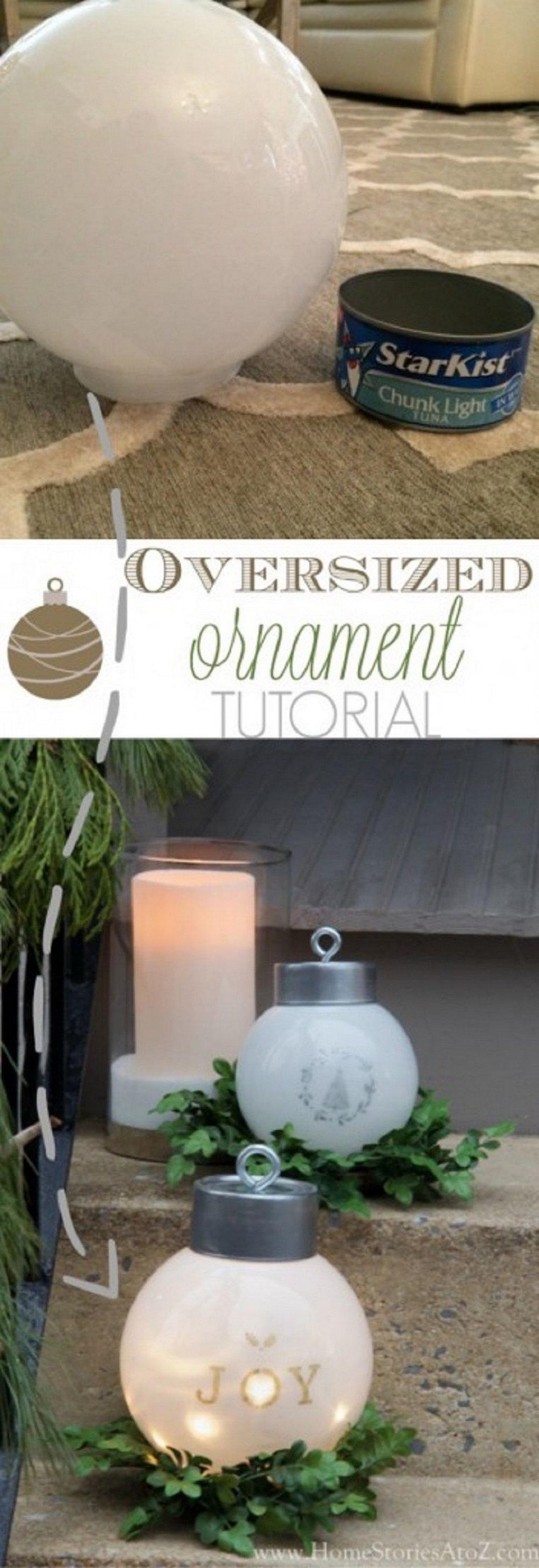 DIY Oversized Ornaments