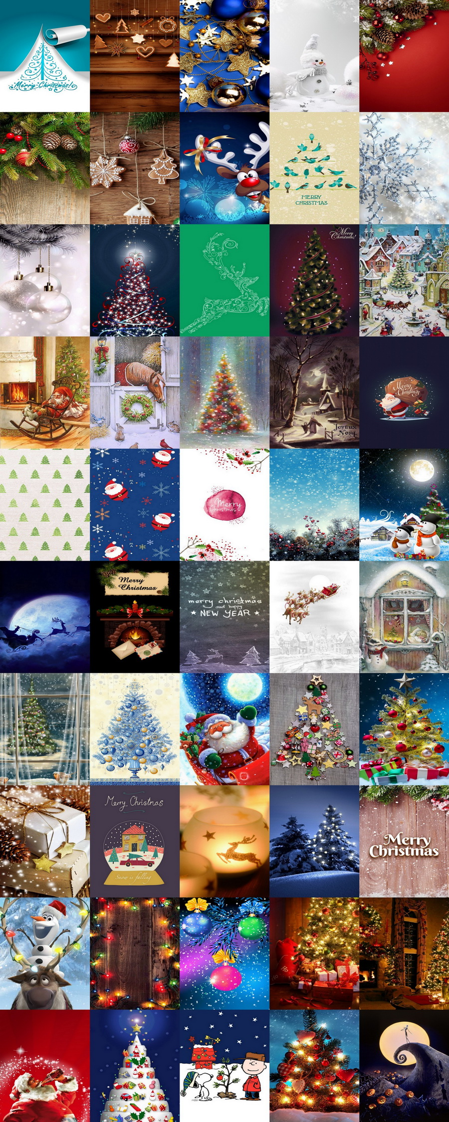 🎁 Bring Your Christmas Cards To Life: 100 Magical Christmas Backgrounds & Holiday Wallpapers (51-100)