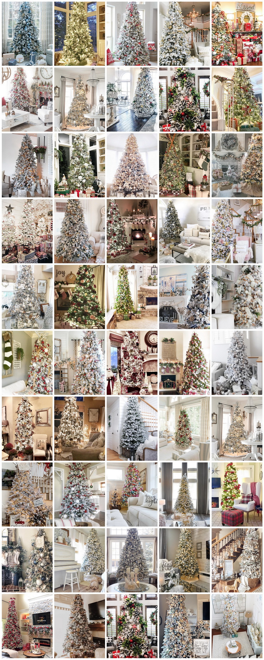 50 Dazzling And Highly Realistic Christmas Trees Purchased @KingOfChristmas + Decorated By Your Favorite Home Decor Bloggers