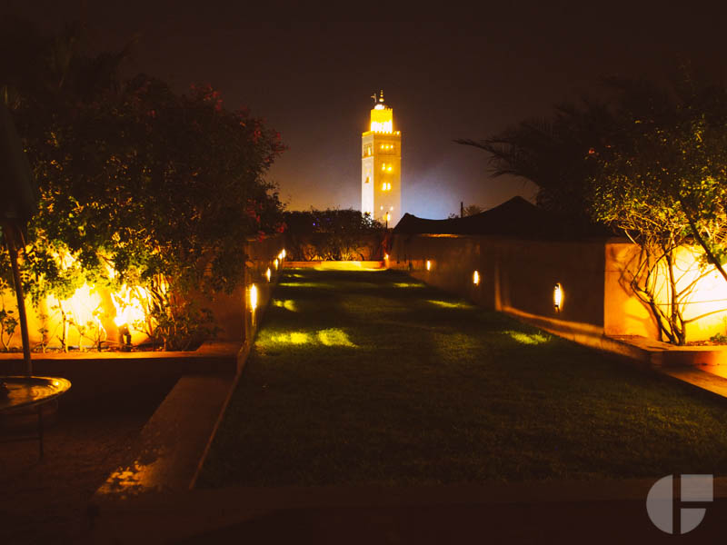 And a view of  Koutoubia Minaret.