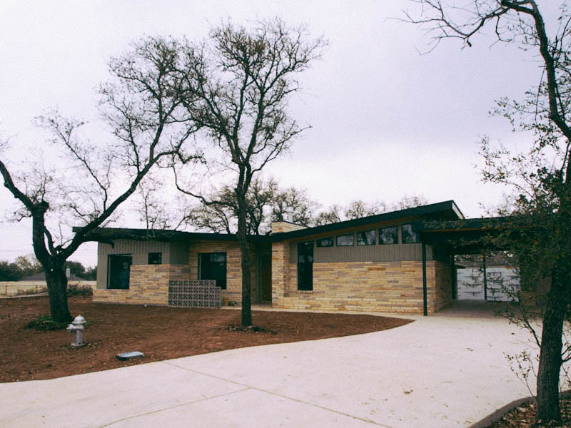 its a new development of 30 affordable mid century modern inspired homes that is being built in austin