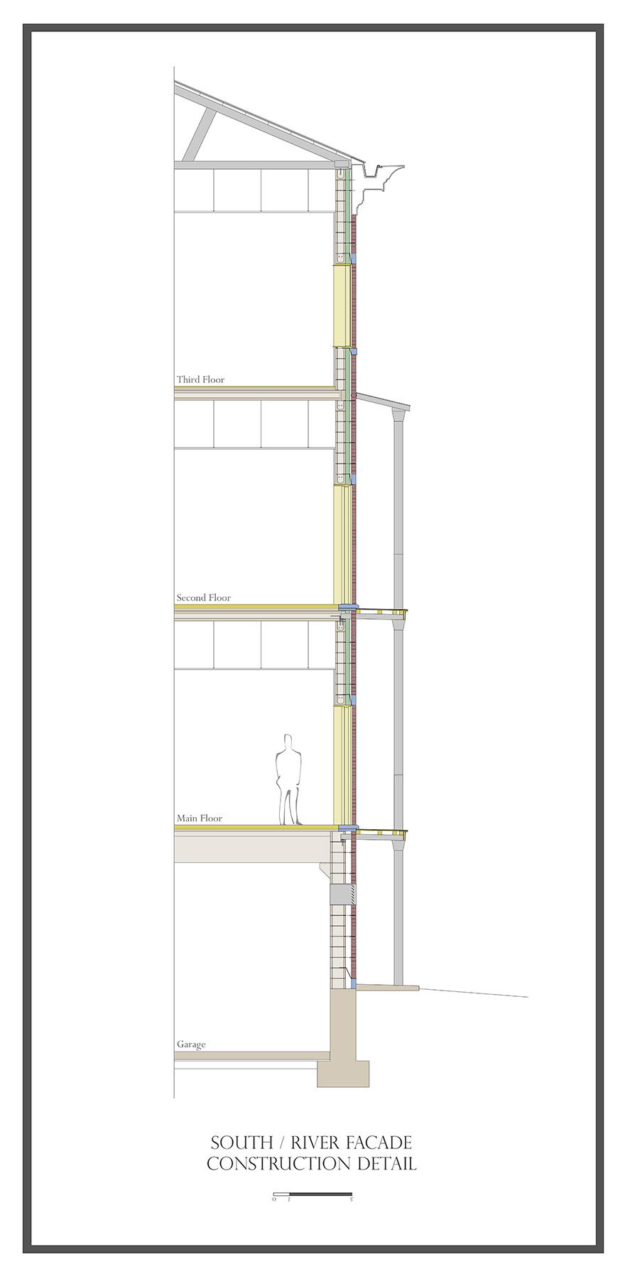 Proposed Center for Grecian Studies - Wall Section