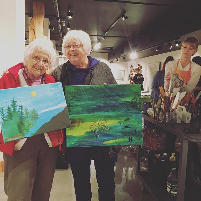 Proud artists. #creativetown #yyj #templedmind #abstractacrylic #paintingisfun