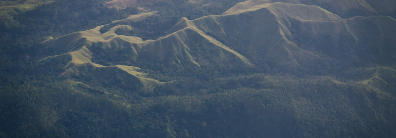 Forested Slopes Over Sumatra, Indonesia