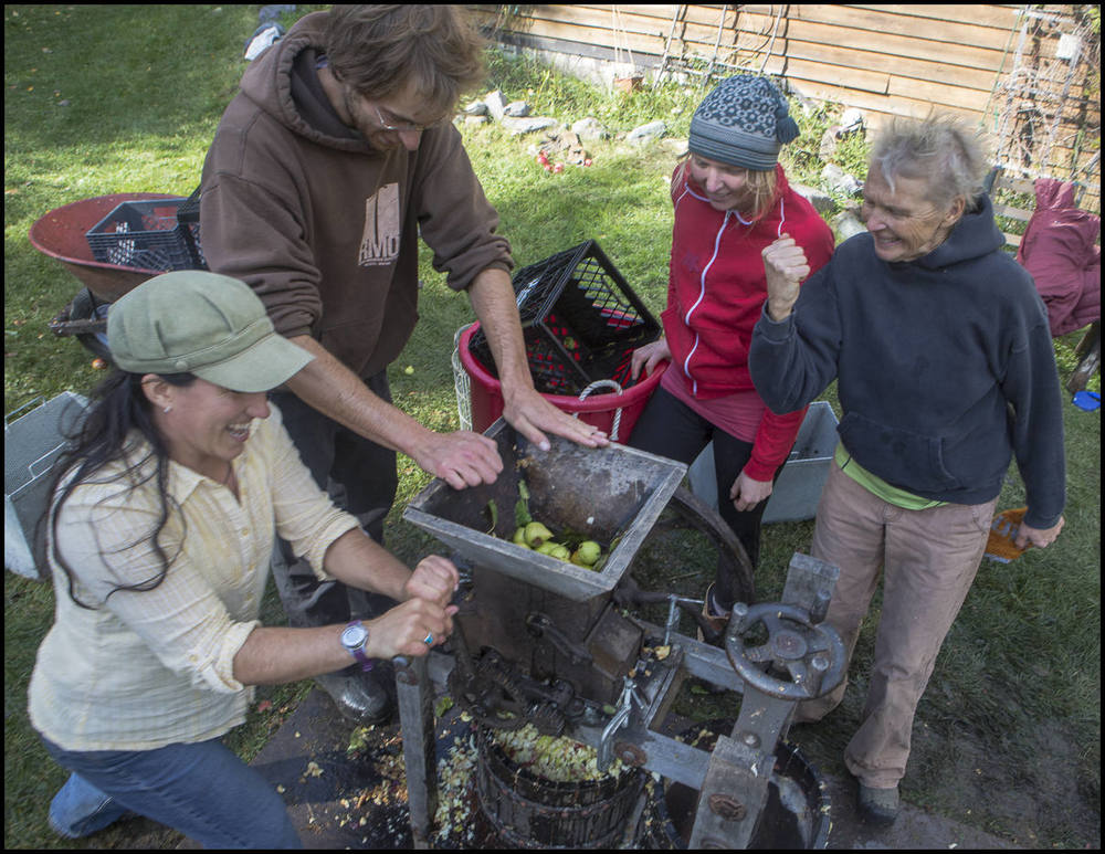 Cider Pressing with Fellow Homesteaders, 2013.