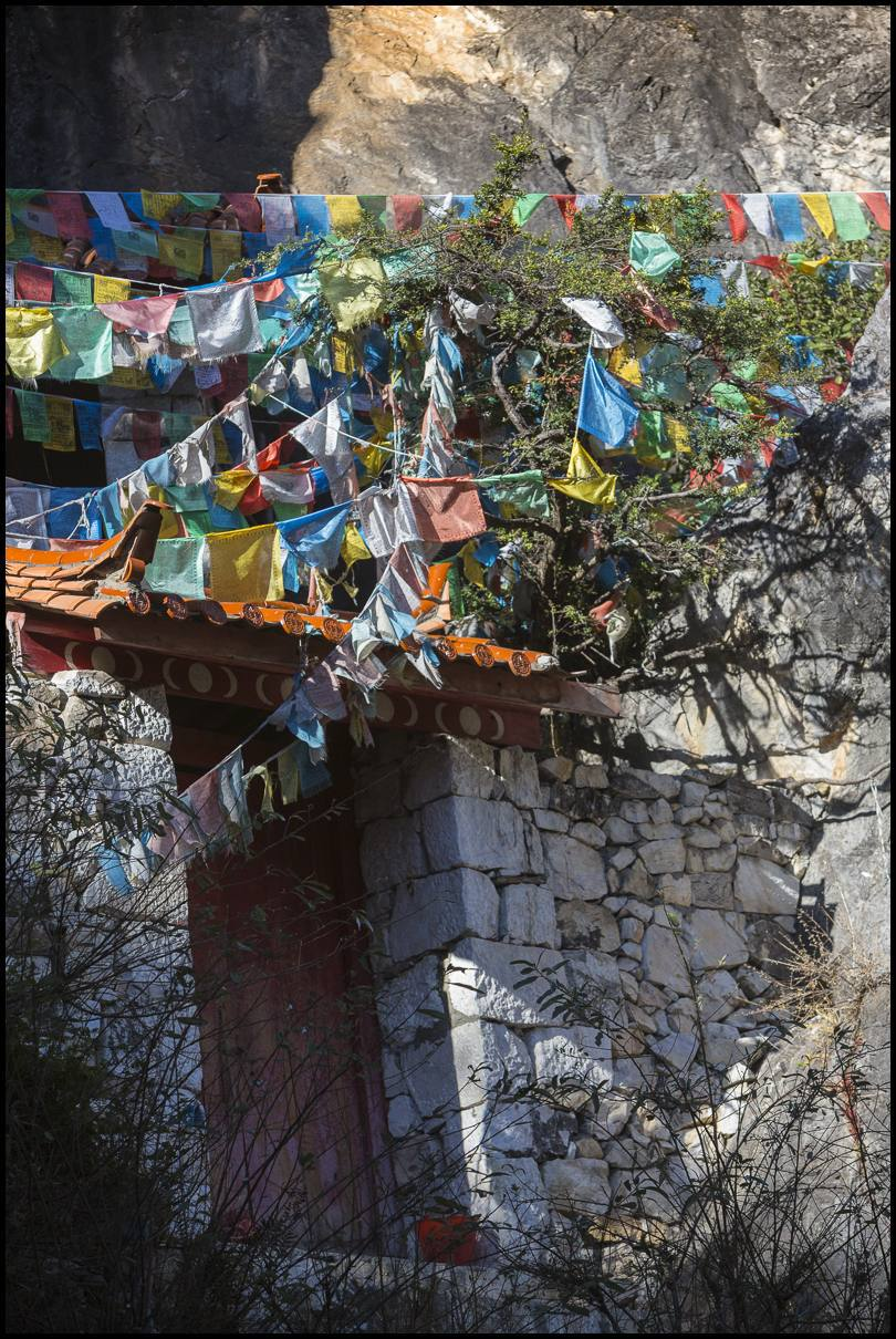 Many of the families along this trade route are Tibetan. Flags are part of the landscape, marking homesteads, waypoints and temples.