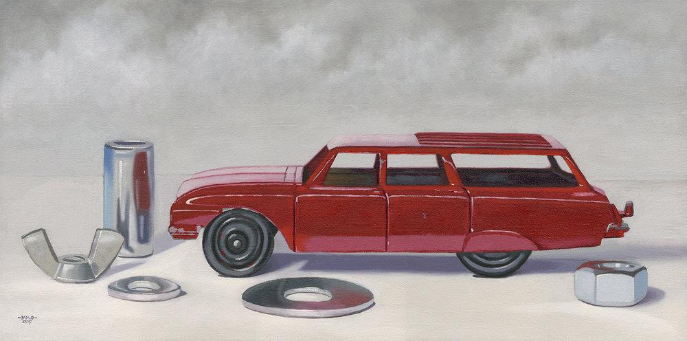 """John Padlo - Tootsie Wagon - Oil on Canvas - 18""""x36"""""""