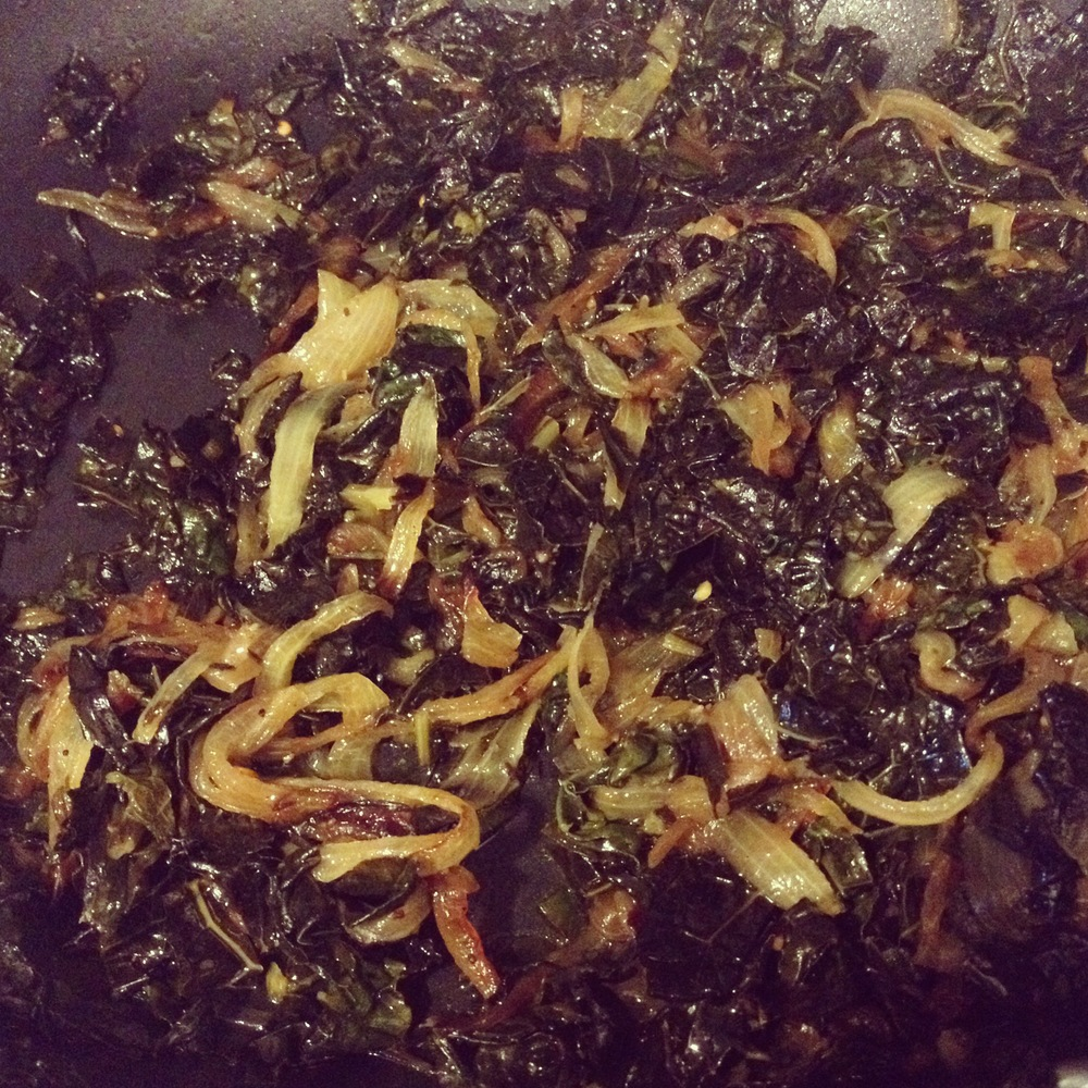 Kale and Caramelized Onions