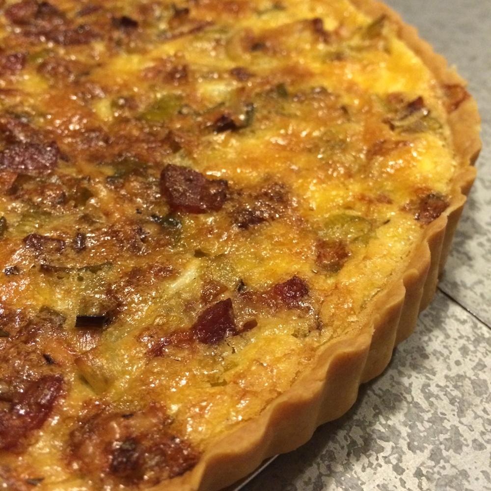 Bacon Leek Gruyere Quiche Recipe