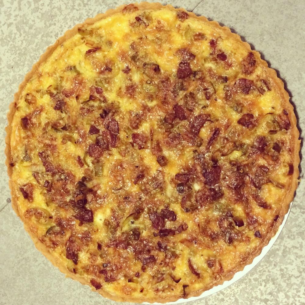 Bacon Leek Gruyere Quiche Recipe Full