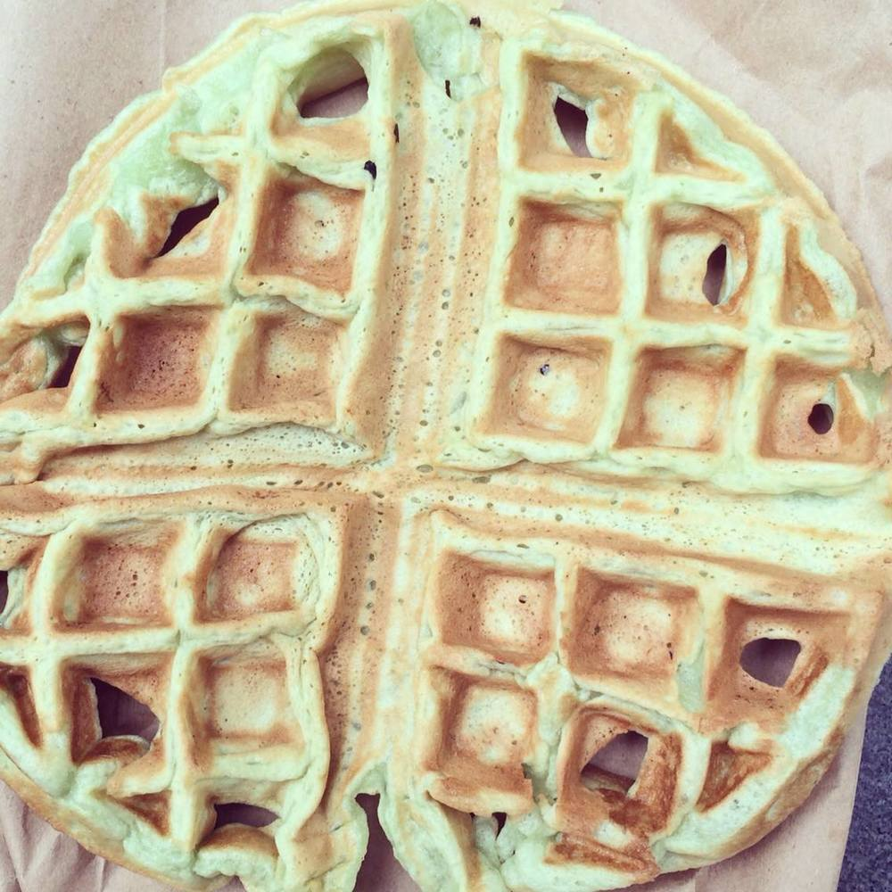 Bad Green Waffles