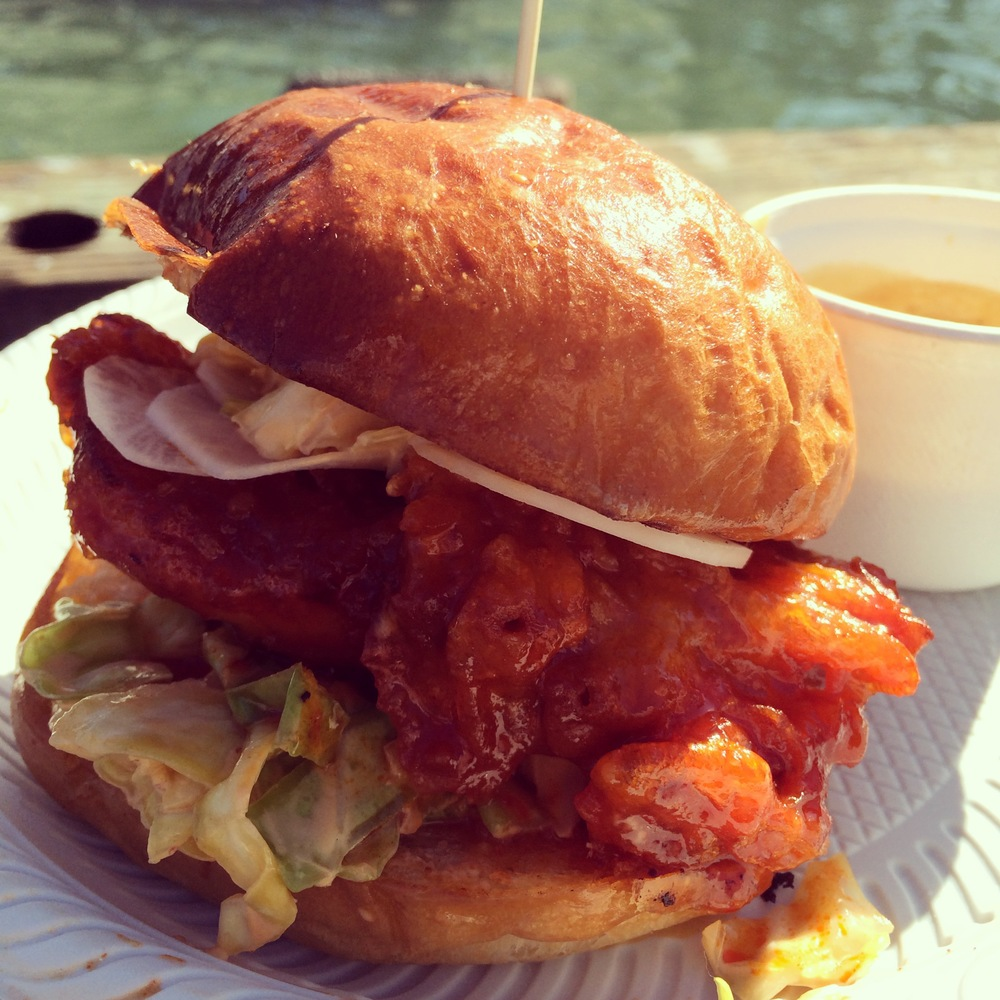 "Namu Gaji Street Food Stall - ""kfc style"" chicken sando"