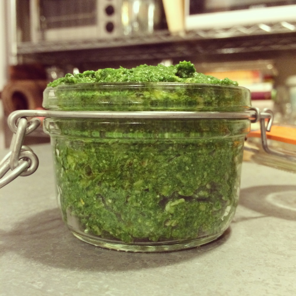 Stinging Nettles Pine Nuts Pesto Recipe